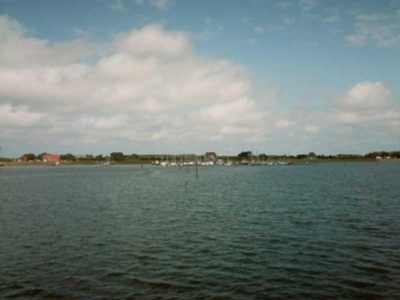 Langeoog vom Wattenmeer aus gesehen